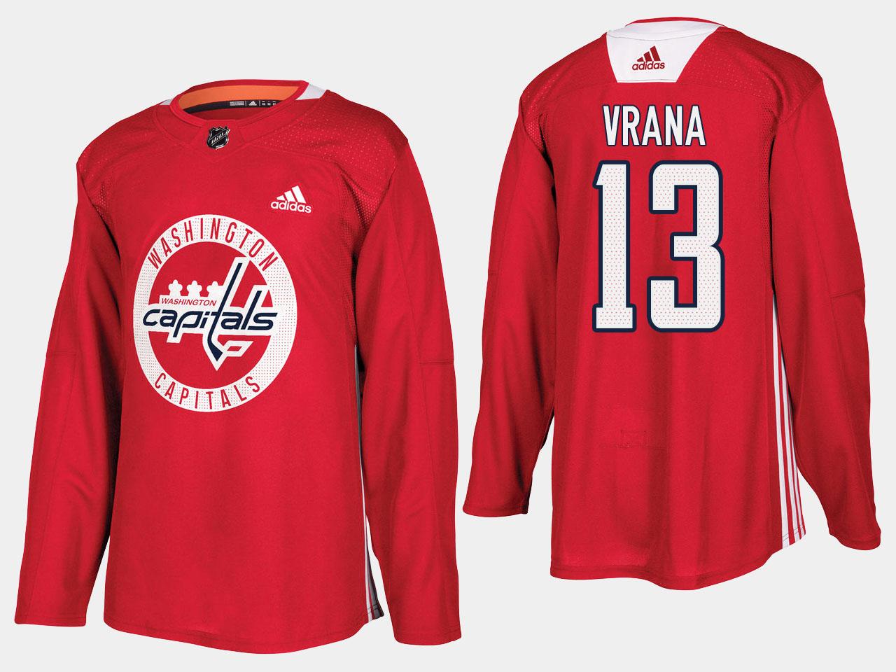 Men's Jersey Red Home Washington Capitals Jakub Vrana