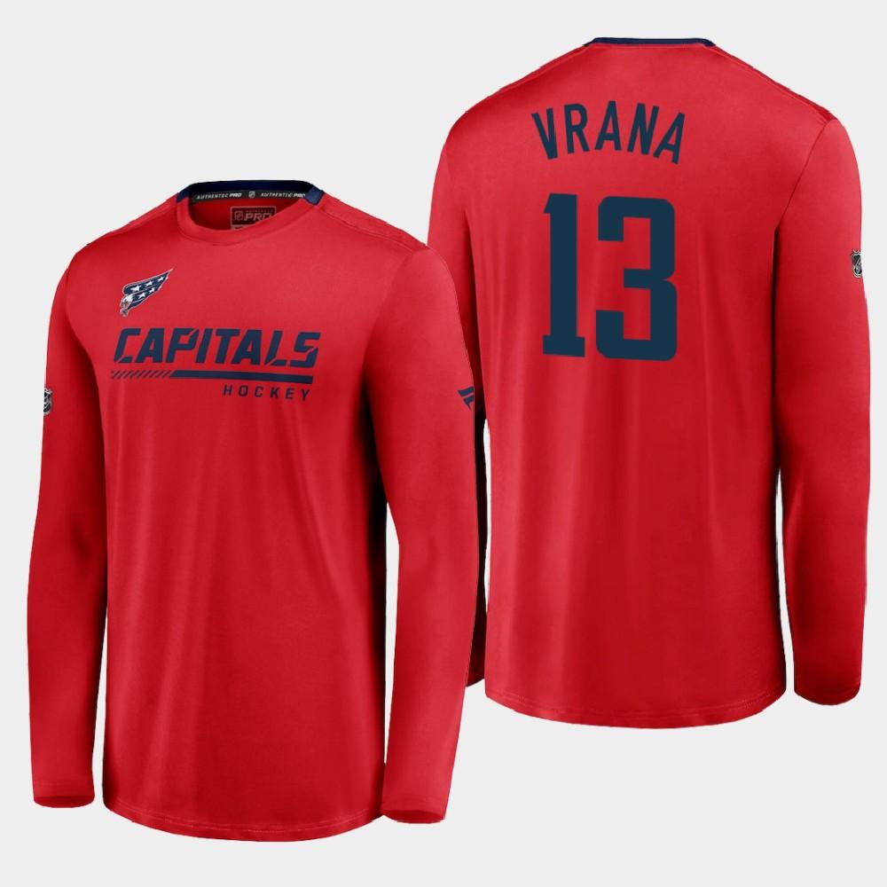 Men's Reverse Retro Red Washington Capitals Jakub Vrana T-Shirt
