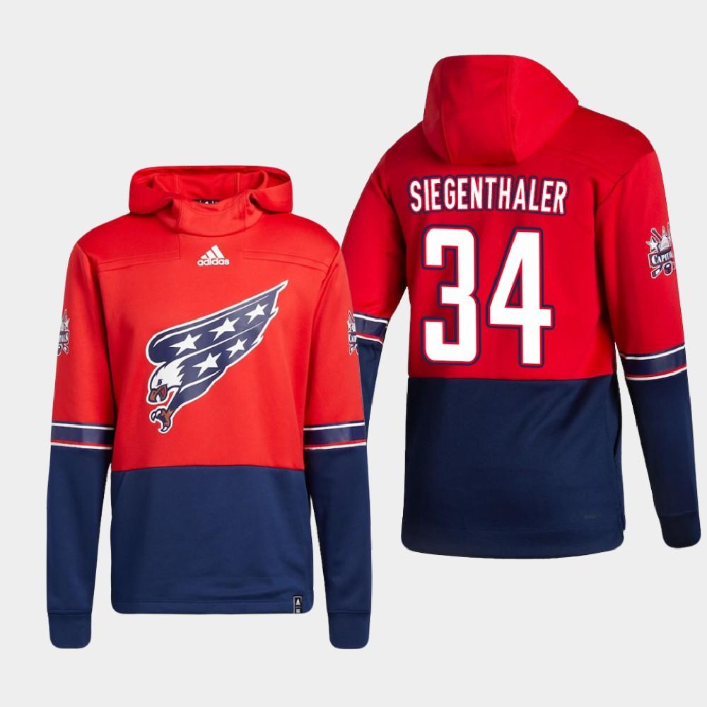 Men's Reverse Retro Red Washington Capitals Jonas Siegenthaler Hoodie