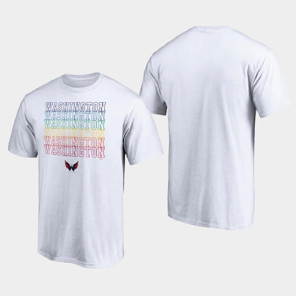 White Men's Washington Capitals T-Shirt City Pride