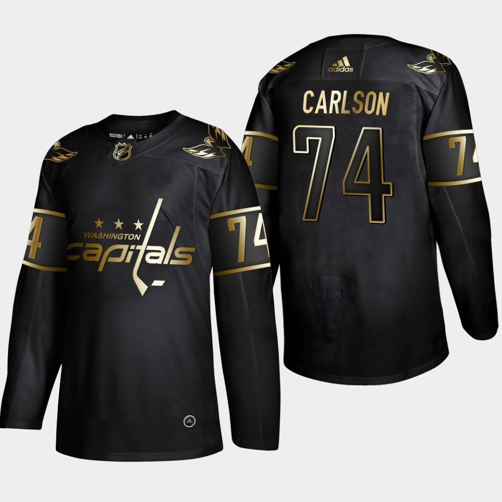 Men's Jersey Black Washington Capitals John Carlson NHL Golden Edition