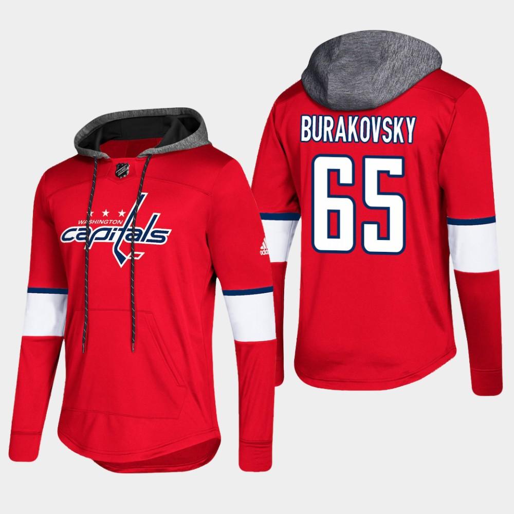 Men's Red Washington Capitals Andre Burakovsky Hoodie Pullover