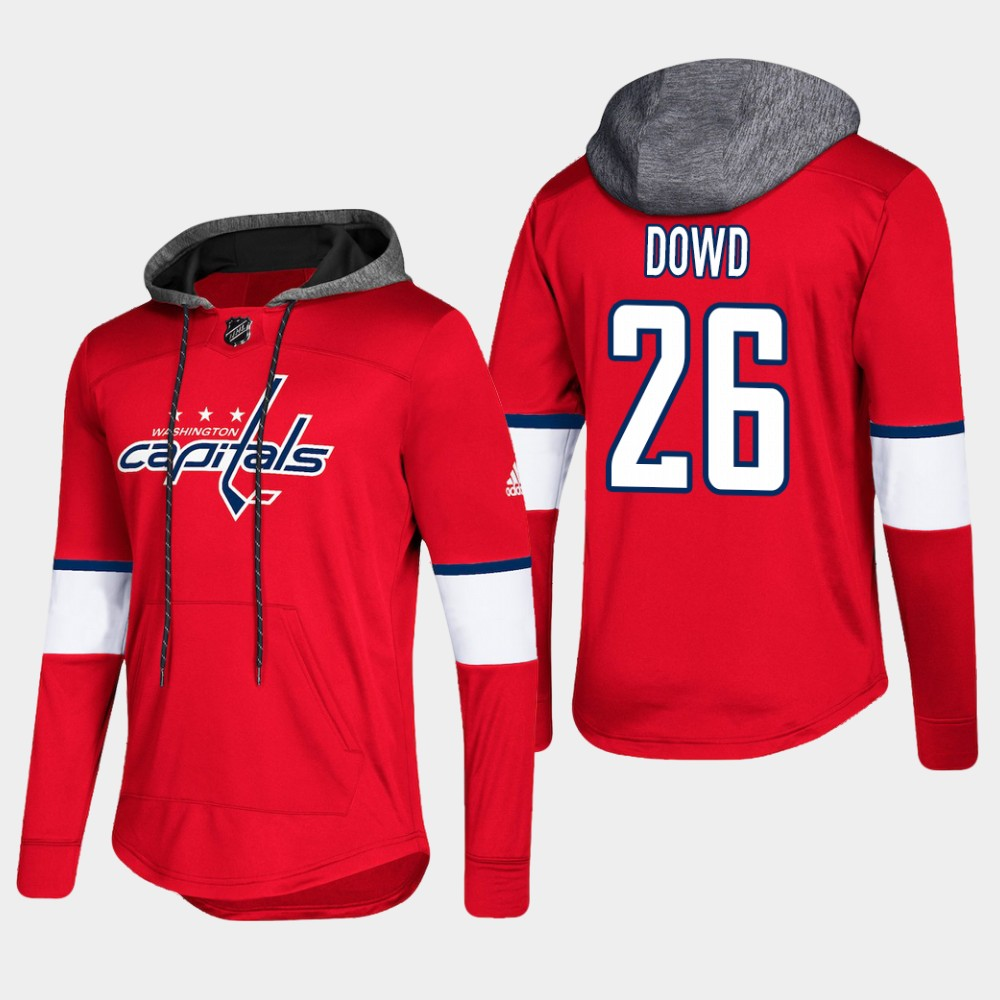 Men's Red Washington Capitals Nic Dowd Hoodie Pullover