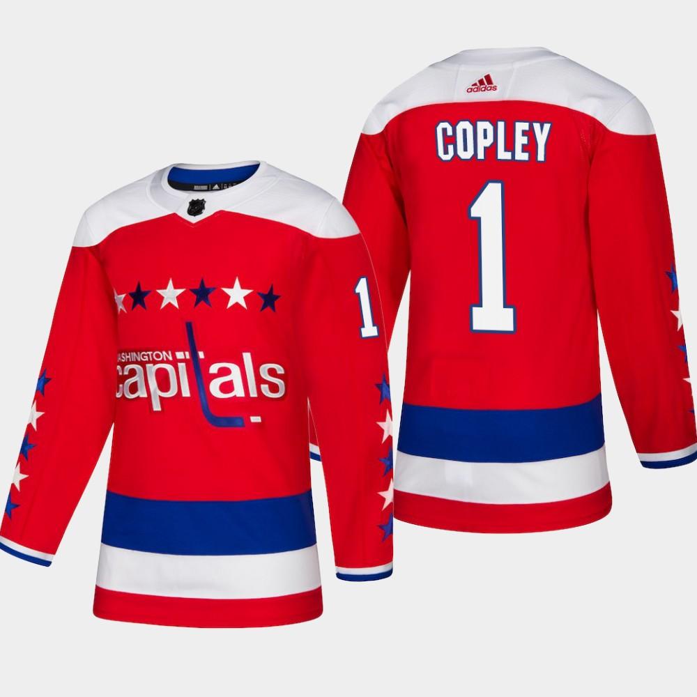 Men's Jersey Red Alternate Washington Capitals Pheonix Copley