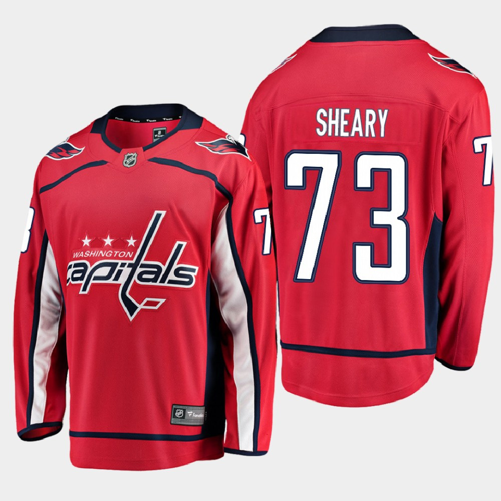 Men's Jersey Red Home Washington Capitals Conor Sheary