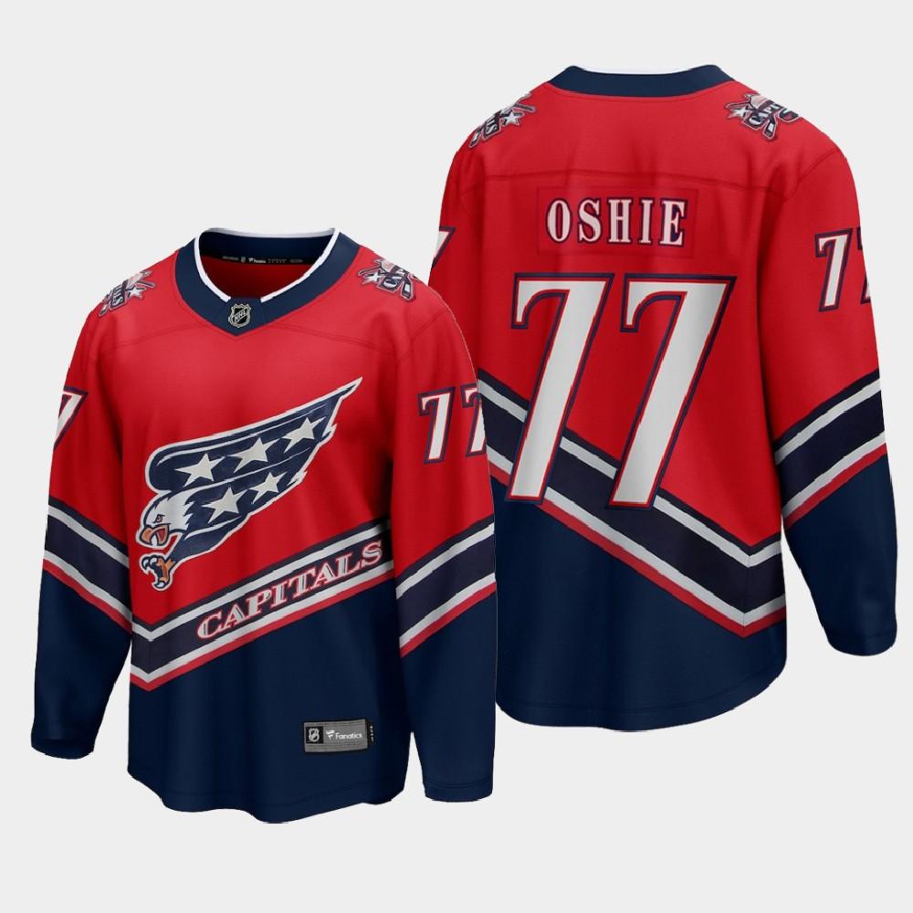 Men's Jersey Reverse Retro Red T.J. Oshie Washington Capitals