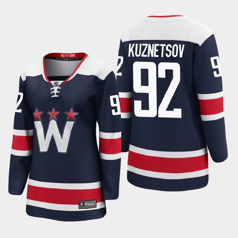 Jersey Navy Alternate Washington Capitals Women's Evgeny Kuznetsov