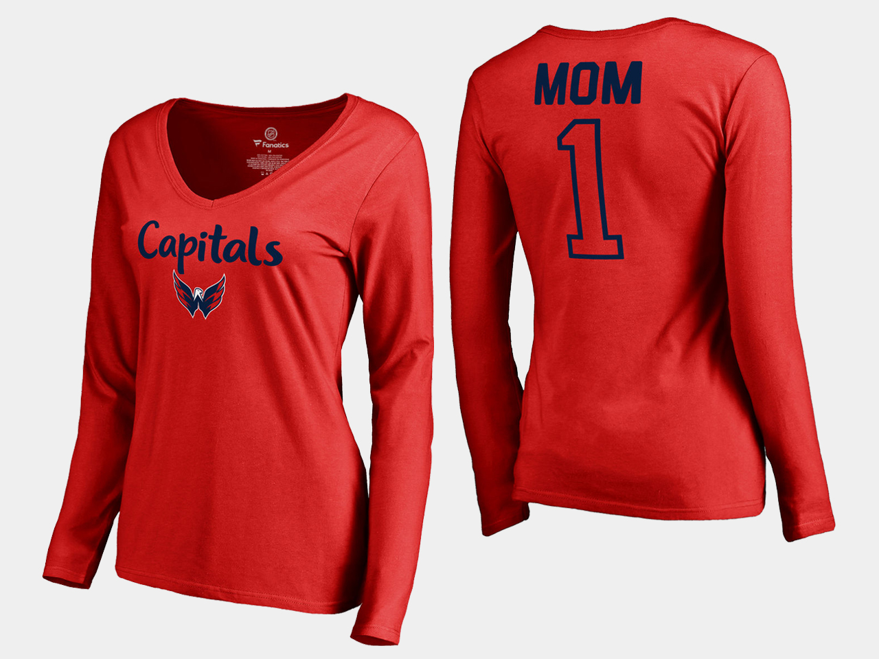 Red Washington Capitals Women's T-Shirt Mother's Day