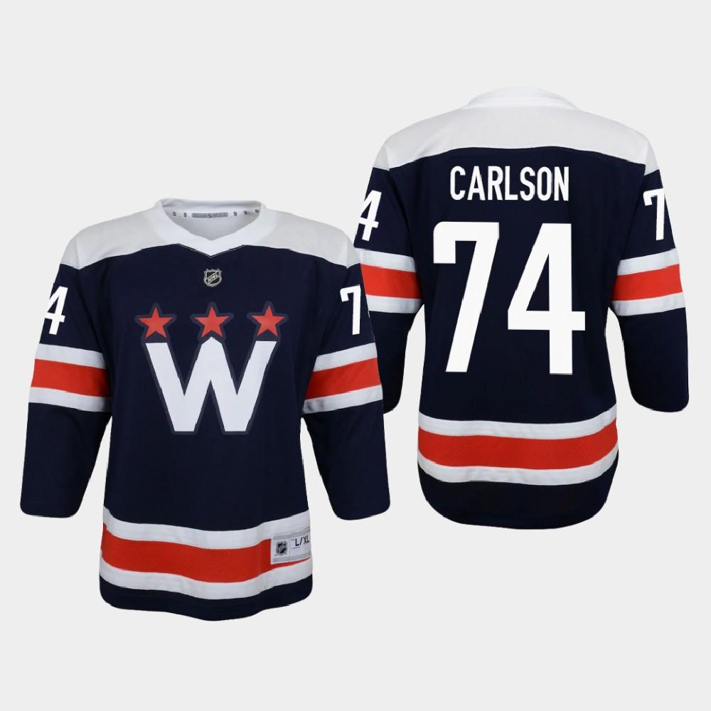 Jersey Navy Alternate Washington Capitals John Carlson Youth