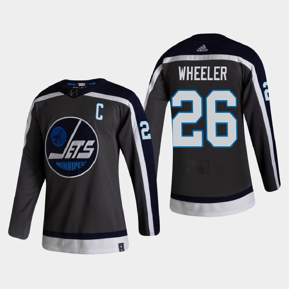 Men's Jersey Reverse Retro Winnipeg Jets Gray Blake Wheeler