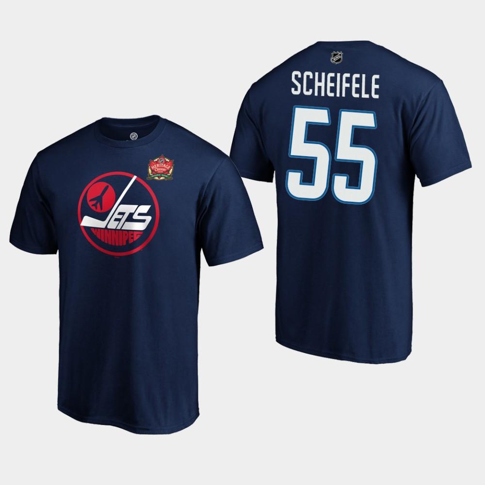 Men's Navy Winnipeg Jets Mark Scheifele T-Shirt Heritage Classic
