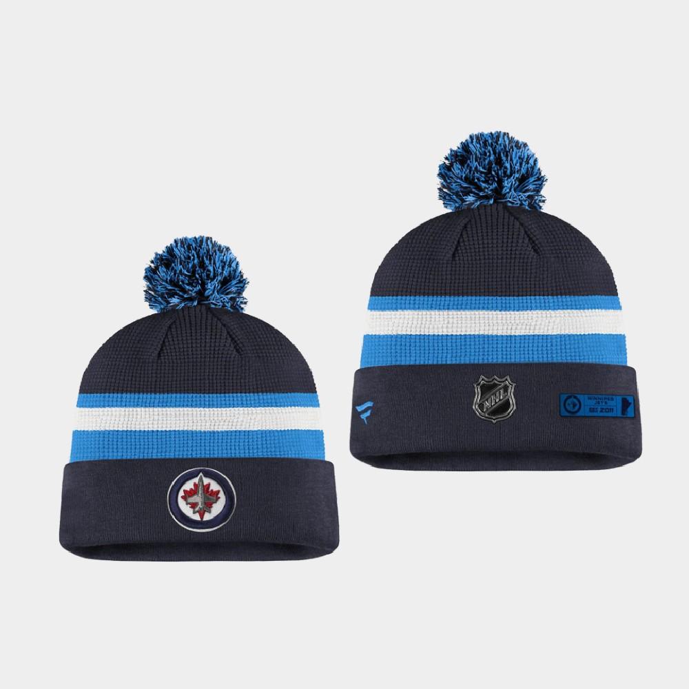 Men's Winnipeg Jets Navy Blue 2020 NHL Draft Knit Hat