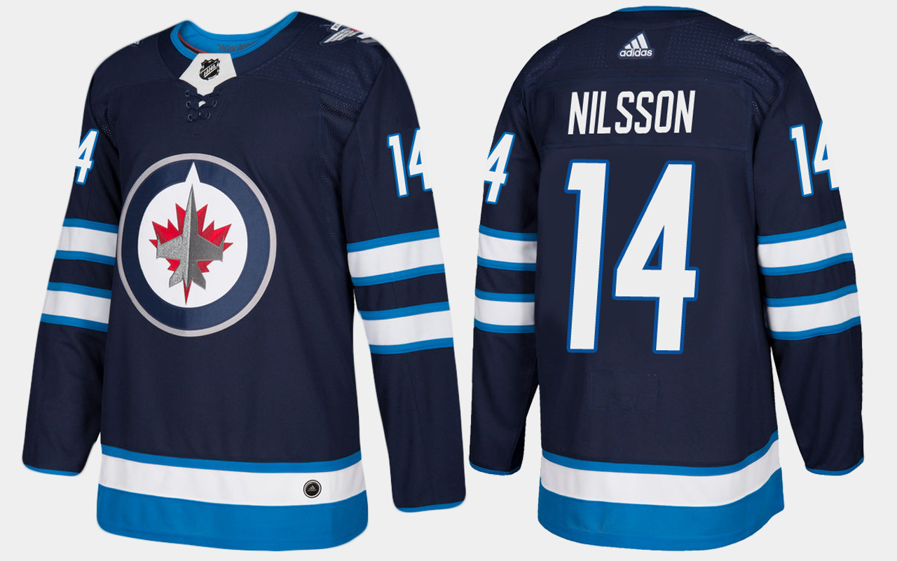 Men's Jersey Home Navy Winnipeg Jets Ulf Nilsson