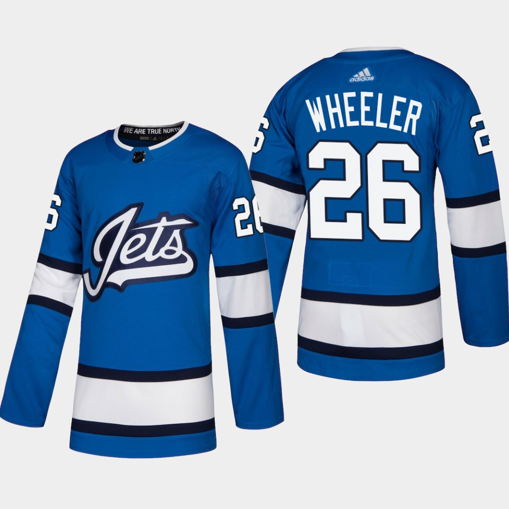 Men's Jersey Blue Alternate Winnipeg Jets Blake Wheeler