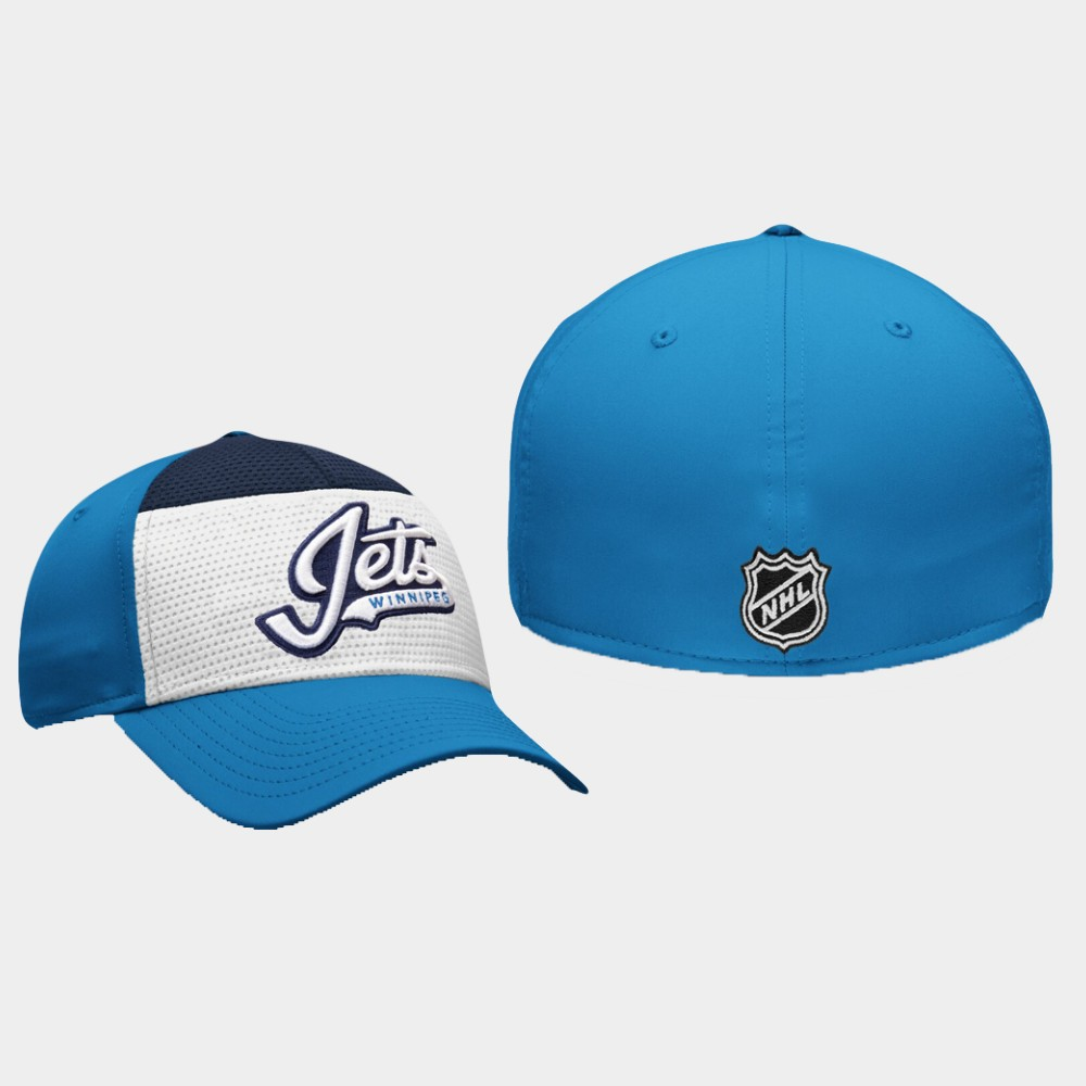 Men's Winnipeg Jets Hat Breakaway Alternate Jersey White Blue