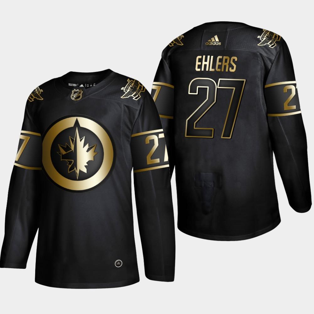 Men's Jersey Black NHL Golden Edition Winnipeg Jets Nikolaj Ehlers