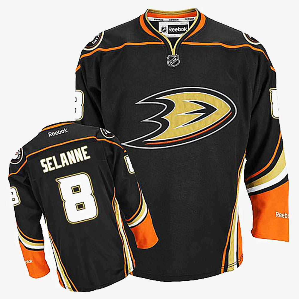Men's Jersey Black Alternate Anaheim Ducks Teemu Selanne