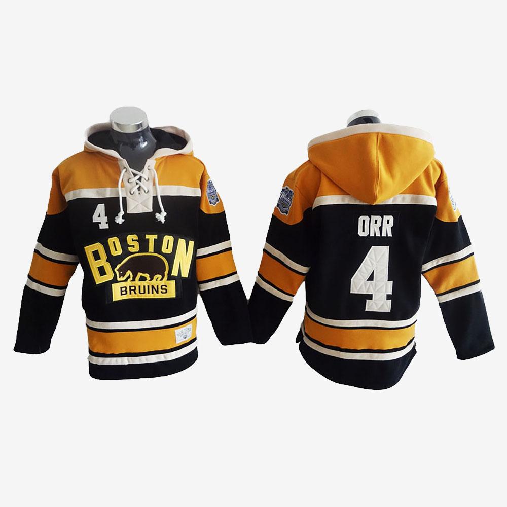 Men's Black Boston Bruins Bobby Orr Hoodie Winter Classic
