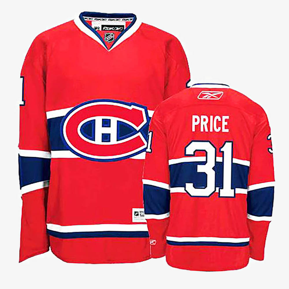 Men's Jersey Red Home Montreal Canadiens Carey Price