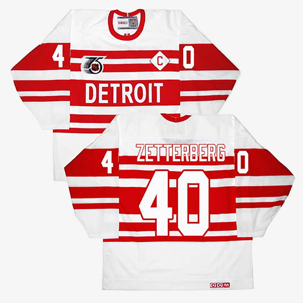 White Men's Jersey Throwback Detroit Red Wings Henrik Zetterberg