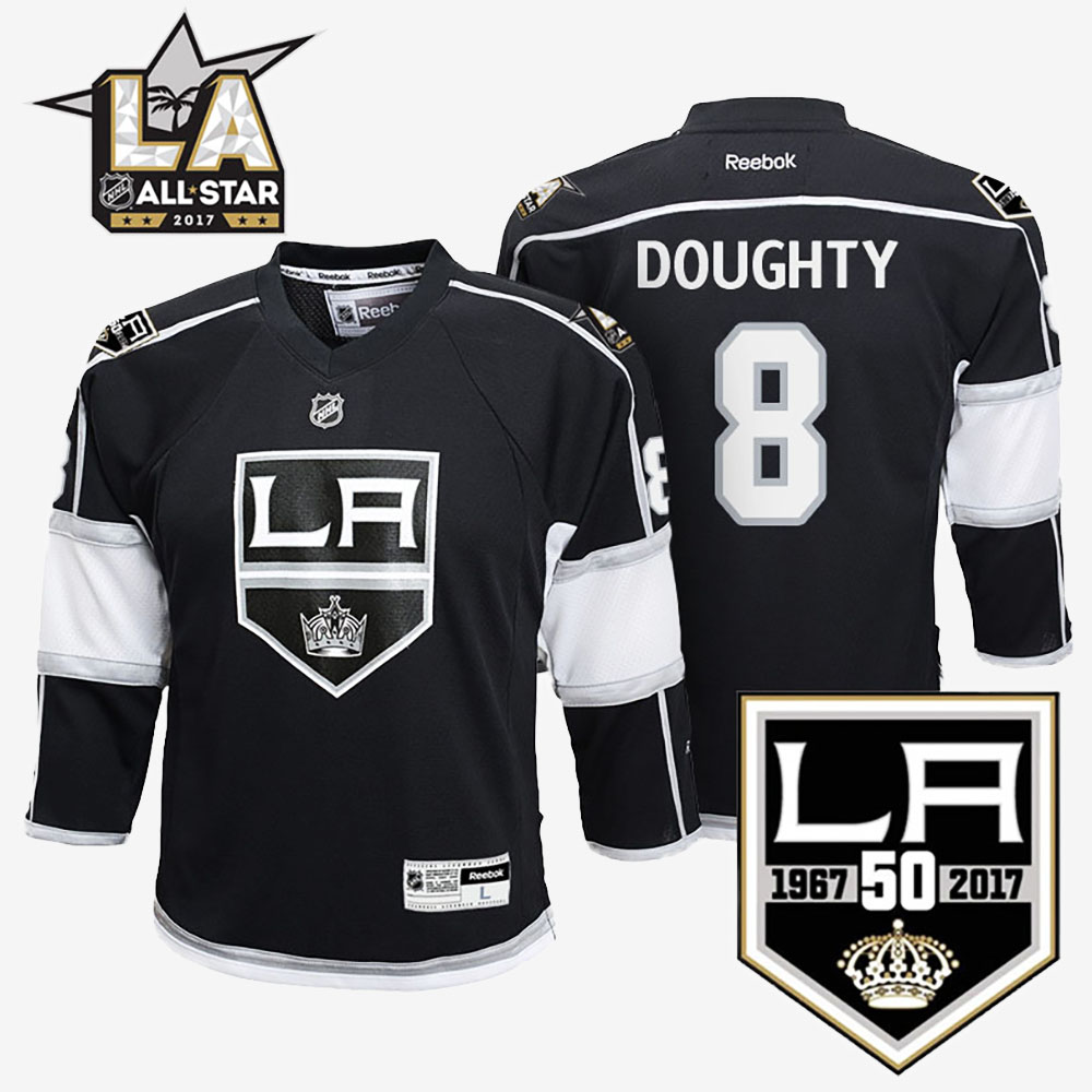 Jersey Home Black Los Angeles Kings Drew Doughty Youth