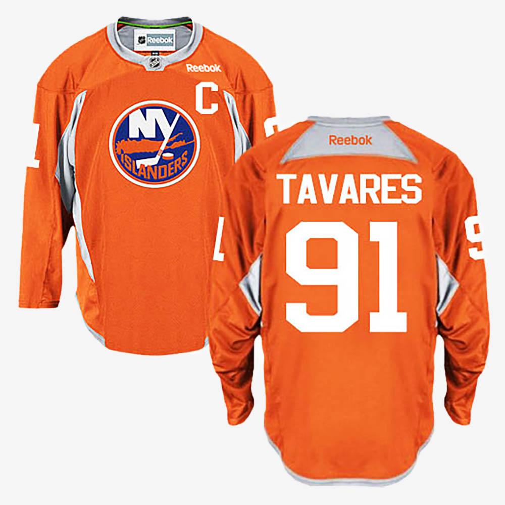 Men's Jersey New York Islanders Orange John Tavares