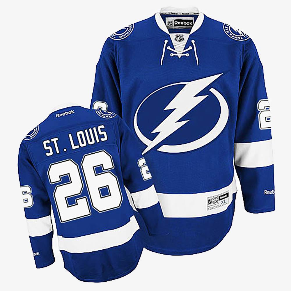 Men's Jersey Home Tampa Bay Lightning Royal Blue Martin St. Louis