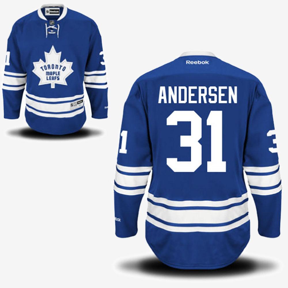 Men's Jersey Toronto Maple Leafs Alternate Frederik Andersen Royal Blue