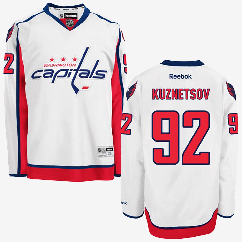 White Men's Jersey Washington Capitals Evgeny Kuznetsov Road